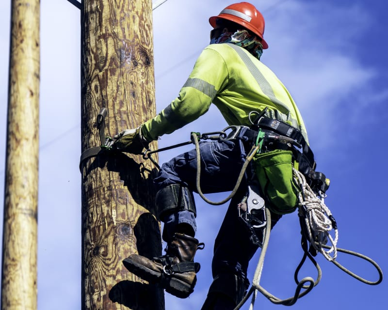 Example Power Utility rope usage