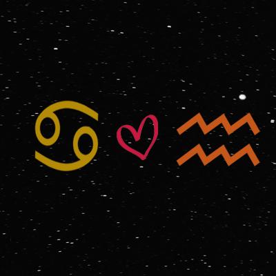 Kecocokan cinta zodiak cancer dan aquarius