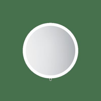 Speil, rundt, Ø60 cm, uttrekk med lys