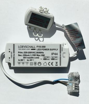 Trafo LED m/6 utganger (2808)