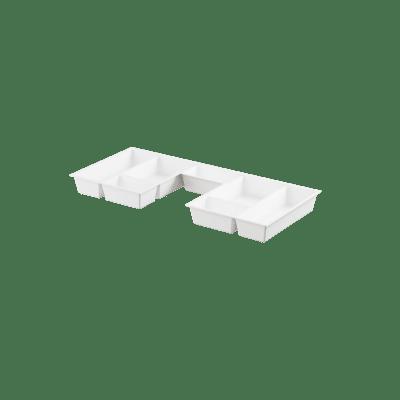 Skuffeinnlegg  hvit m/utsp for B80