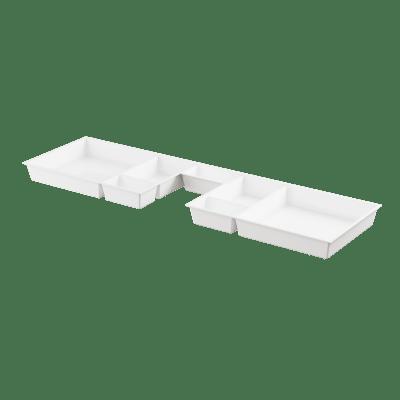 Skuffeinnlegg  hvit m/utsp for B120
