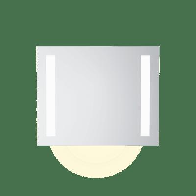 Speil m LEDlys,underlys,stikk  B80  H65