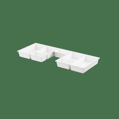 Skuffeinnlegg  hvit m/utsp for B90