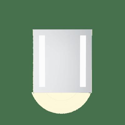 Speil m LEDlys,underlys,stikk  B60  H65