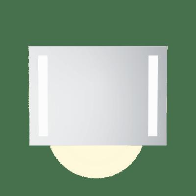 Speil m LEDlys,underlys,stikk  B90  H65