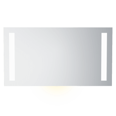 Speil m LEDlys,underlys,stikk  B120  H65
