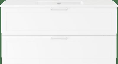 Servantskap B120 m/Servant porselen Air 120cm  - Classic m/bøyle