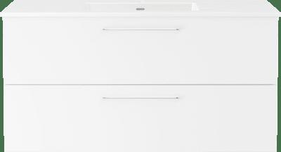 Servantskap B120 m/Servant porselen Air 120cm  - Hvit høyglans