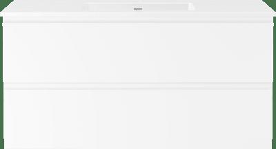 Servantskap B120 m/Servant porselen Air 120cm  - Hvit matt med integrert grep