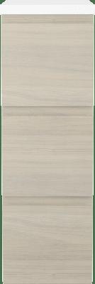 Variant Sideskap med hvite sider, bredde 30 cm, dybde 45 cm, 3 skuffer med front i Natur med integrert grep og hvit benkeplate
