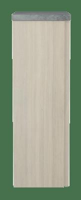 Variant Sideskap med 1 dør, bredde 30 cm, høyde 90 cm, dybde 35 cm, foliert benkeplate «Betong»