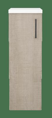 Variant Sideskap med 1 dør, bredde 30 cm, høyde 90 cm, dybde 35 cm, Hvit foliert benkeplate
