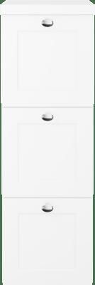 Variant Sideskap med hvite sider, bredde 30 cm, dybde 35 cm, 3 skuffer med front i Classic med knott og hvit benkeplate