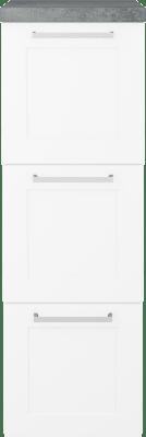 Variant Sideskap med hvite sider, bredde 30 cm, dybde 35 cm, 3 skuffer med front i Classic med bøyle og Betong benkeplate