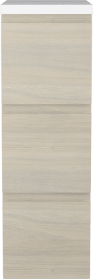 Variant Sideskap i Eik struktur, bredde 30 cm, dybde 35 cm, 3 skuffer med Kunstmarmor benkeplate