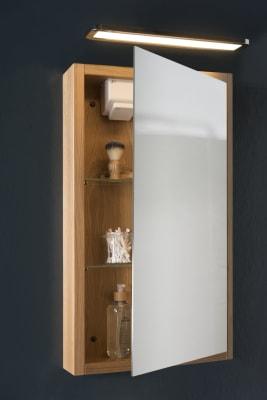 Eik speilskap med Mosel Lampett og multiboks
