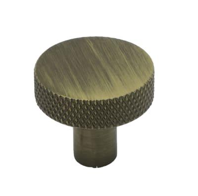 Knott, bronse f/Sort eik, ø25mm