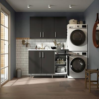 Vaskerom Miljø 180 cm m/Hvit benkeplate