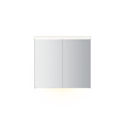 Variant speilskap B90 H80 med lysplate