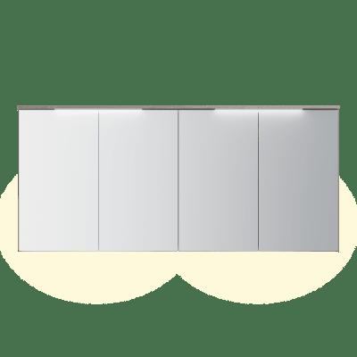 Variant speilskap B180 H80 med lystopp