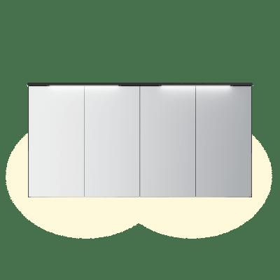 Variant speilskap B160 H80 med lystopp