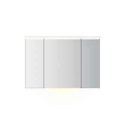 Variant speilskap B120 H80 med lysplate