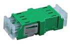 Adapter, LC/APC DPX, FL, grønn