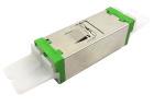 Adapter, E2000/APC DPX, Compact, green
