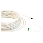 Subscriber cable, SC/APC, 9/OS2/4500, 0.9 mm fan-out, 15 m, white
