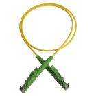 Patch cord, E2000/APC-E2000/APC, 9/OS2/2000, 3 m, yellow