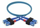 Duplex patch cord SC/PC-SC/PC, 9/OS2/2000, 2 m, blue