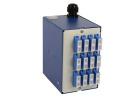 Veggboks DIN, 12 LC/APC, fiberhaler, SM