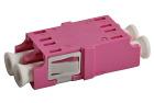 Adapter, LC DPX, OM-4, FL, fiolett
