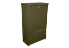 Street cabinet SCC 594-300, Green, Back plate wood