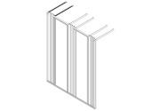 """Frame, 2x19"""", H220xD70, 3 vert. guides"""