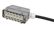 8-fiber HAN Plug Std - HAN Plug Std, AXAI, 9/OS2, 10m