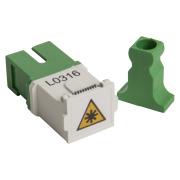Adapter, SC/APC SPX w/closing, 10 pack