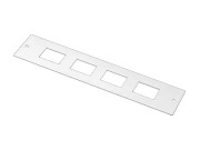 Adapter plate, mini, 4 hole E2000 compact, DPX