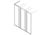 """Frame, 3x19"""", H180xD70, 2 vert. guides"""
