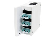 Wall box DIN MINI, 12 LC, adapter, OM3