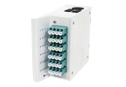 Wall box DIN MINI, 24xLC-1x24 MPOM OM3, A2-TIA