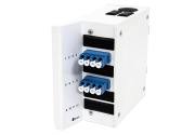 Wall box DIN MINI, 8 LC/PC, adapter, SM