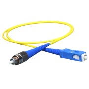 Patch cord, FC/PC-SC/PC, 9/OS2/2000, yellow
