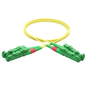 Duplex patch cord, E2000/APC-E2000/APC, 9/OS2/2000, yellow