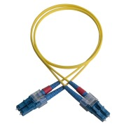 Duplex patch cord, E2000/PC-E2000/PC, 9/OS2/2000, yellow