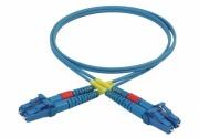 Duplex patch cord, LC/PC-LC/PC, 9/OS2/2000, blue