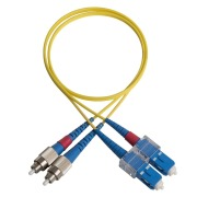 Duplex patch cord, FC/PC-SC/PC, 9/OS2/2000, yellow