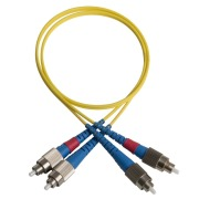 Duplex patch cord, FC/PC-FC/PC, 9/OS2/2000, yellow