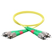Duplex patch cord, FC/APCR-FC/APCR, 9/OS2/2000, yellow